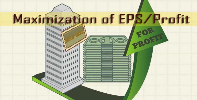 Maximization of EPS/Profit